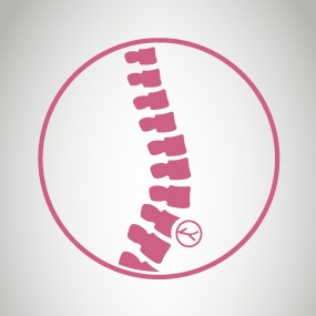 Nerve damage associated with a spinal or epidural injection icon