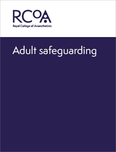 Front cover for adult safeguarding guidance