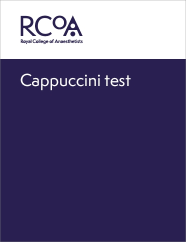 Front cover for cappuccini test