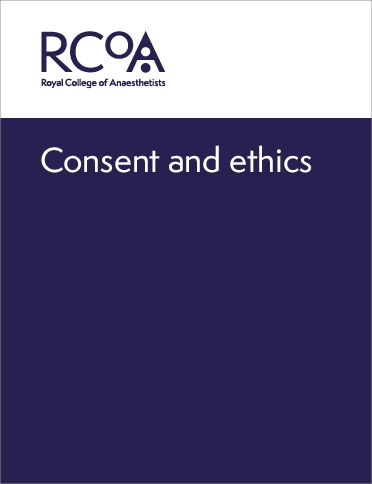 Front cover for consent and ethics guidance