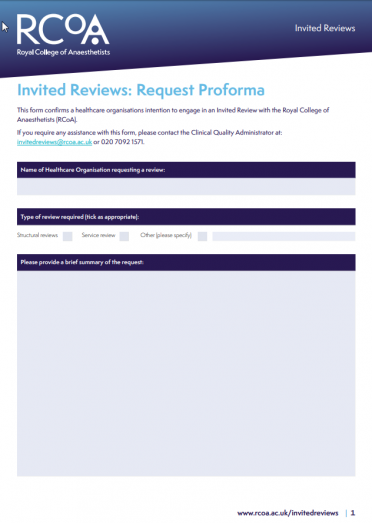 Request an invited review