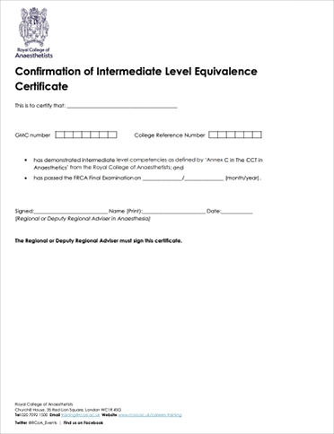 Confirmation of Intermediate Level Equivalence