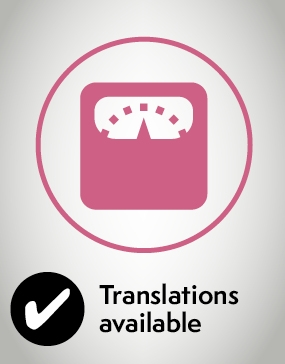 Anaesthesia and your weight icon translations